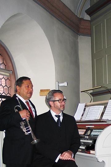 Herbert Christ und Fraser Gartshore in Lorsbach